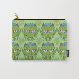 The happy red horn green demon Carry-All Pouch