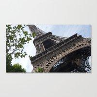 eiffel tower Canvas Prints featuring Eiffel Tower  by Françoise Reina