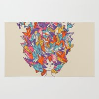 birdy Area & Throw Rugs featuring Birdy by Julia Sonmi Heglund