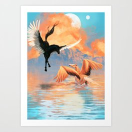 Pegasus Dreamscape Art Print