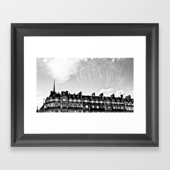 Cloudy in Paris. Framed Art Print