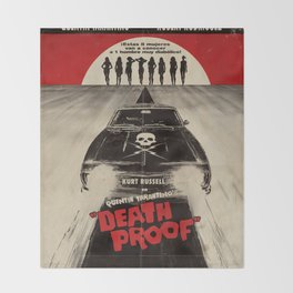 Death Proof Movie Poster Written And Directed By Quentin Tarantino Spanish Version Artwork, Posters, Throw Blanket