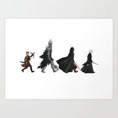 Villain Road Art Print