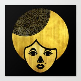 Golden Bronze Girl Canvas Print