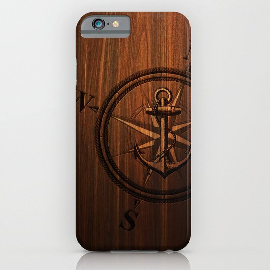 Wooden Anchor iPhone & iPod Case