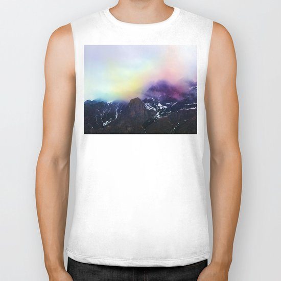 Mountain of Color Fog Biker Tank