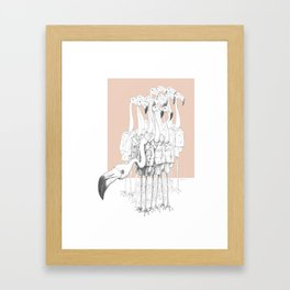 Weird & Wonderful: Flamingo Boys Framed Art Print