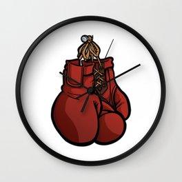 Boxing Gloves Illustration Wall Clock