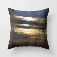 all seeing eye Throw Pillows featuring All-Seeing Eye by GLR67