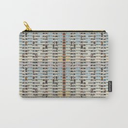 x Colorful building Facade in Hong Kong - pastel color - Basketball court, Hongkong Carry-All Pouch
