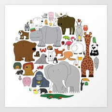 The Animal Kingdom Art Print
