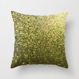 Gold Glitter Sparkle Throw Pillow