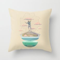 Clouds fisherman Throw Pillow