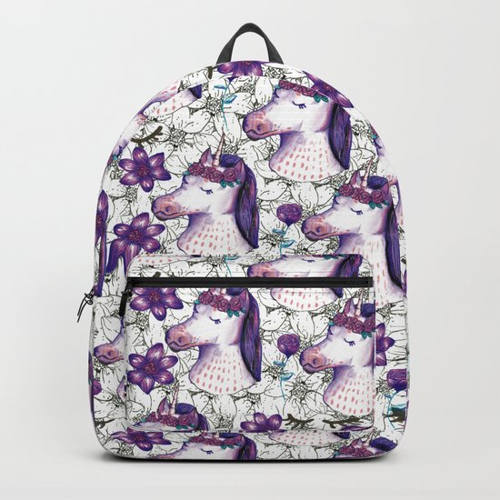 unicorn spring floral by mantrapop