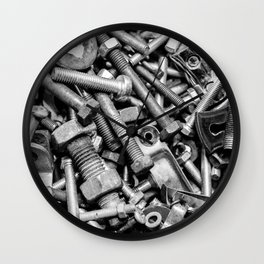 Nuts and Bolts Wall Clock