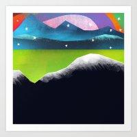 Starry Day Art Print