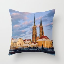 Wrocław Cathedral Throw Pillow