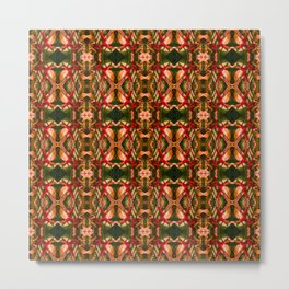 African-Inspired Kaleidoscopic Pattern Metal Print