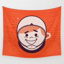 Retro Space Guy Wall Tapestry