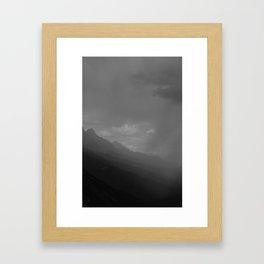 Mountainous Shades Of Grey Framed Art Print
