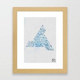 Tribal Ocean Blue Framed Art Print