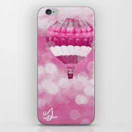 Hot Air Balloons #1 - Pink iPhone Skin