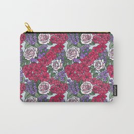 Chevron Floral Bright Carry-All Pouch