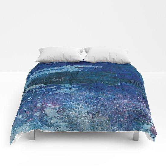 Cosmic fish, ocean, sea, under the water Comforters