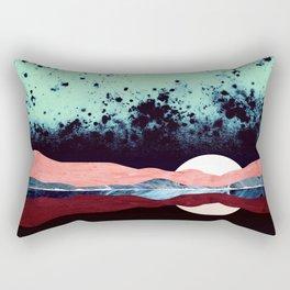Night Sky Reflection Rectangular Pillow