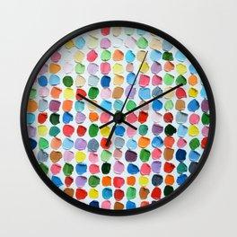 Connect the Polka Daubs Wall Clock