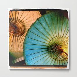 Chinese Paper Umbrellas Metal Print