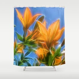 Summer Lillies by Mandy Ramsey, Soul Happy Art Shower Curtain