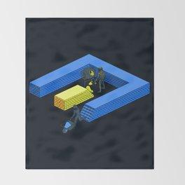 Tron Wall Throw Blanket