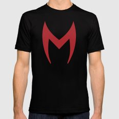 Scarlet Witch Mask Mens Fitted Tee Black MEDIUM