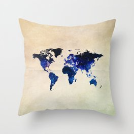Big World Out There Throw Pillow