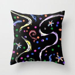 Black-White magic Throw Pillow