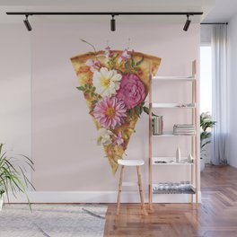 FLORAL PIZZA Wall Mural
