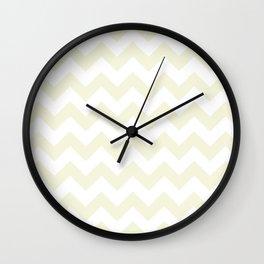 Chevron (Beige/White) Wall Clock