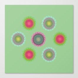 transparent floral pattern 4 Canvas Print