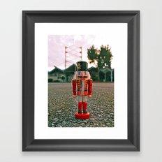 Bowling nutcracker Framed Art Print