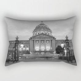 San Francisco City Hall BW Rectangular Pillow