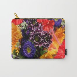 red geraniums flowers floral bouquet Carry-All Pouch
