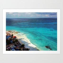 I really love Cancun. Art Print