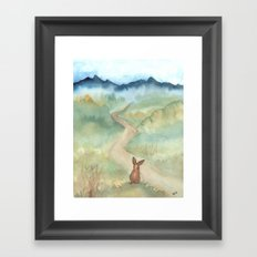 The Long and Winding Road Framed Art Print