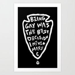 Being Gay Black Art Print