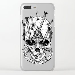 Drive in the Nails by Fred Gonzalez Clear iPhone Case