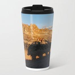 Sunset with shades and lamas Travel Mug