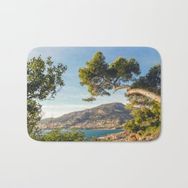 Maritime pine trunk in French Riviera in a sunny day Bath Mat