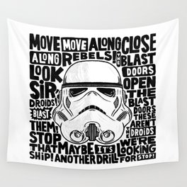 """""""Look Sir, Droids! - Stormtrooper"""" by Matthew Taylor Wilson Wall Tapestry"""