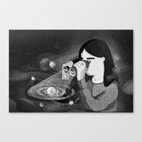 universe Canvas Prints featuring Universe by Manca Flajs